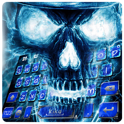Swag Blue Skull Keyboard Theme (app)