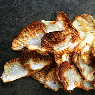 Baked Turnip Chips.
