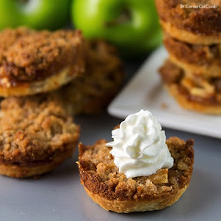 Mini Apple Pies with Streusel Topping.