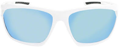 Optic Nerve Variant Sunglasses: Shiny White, with Smoke Ice Blue Mirror Lens and additional Copper Lens alternate image 1