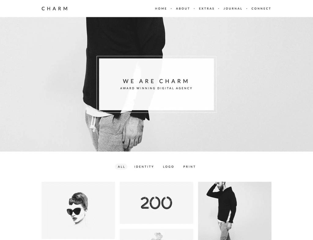 Bloques de texto minimalismo en el diseño web