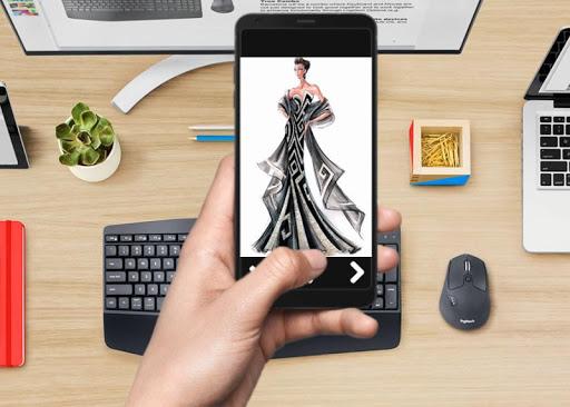 Design sketch glamor dresses screenshot