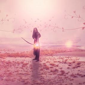 The Archer... by Ilkgul Caylak - Digital Art People ( imagine, nature, edited, cool, photoshop, girl, nice )