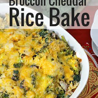 Chicken Broccoli Cheddar Rice Casserole.