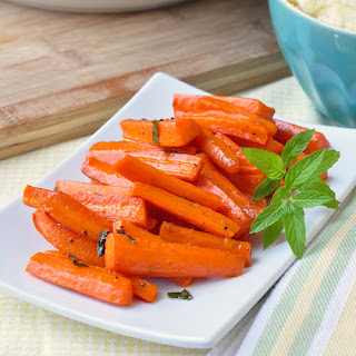 Honey Roasted Carrots with Mint.