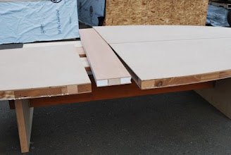 Photo: large joiner insert to marry the 2 round honeycomb core sections of the table table
