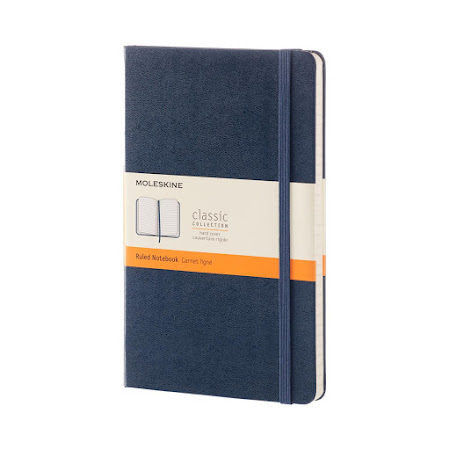 Classic Hard Cover Large Sapphire Blue