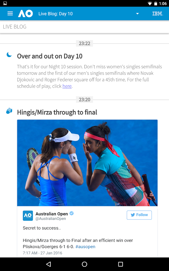 Australian Open Tennis 2017- screenshot