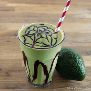 Indonesian Coffee Avocado Smoothie / Milkshake (Es Alpukat).