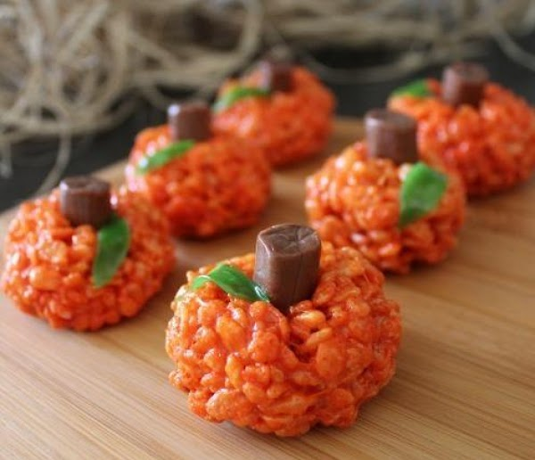 Rice Krispy Pumkin Treats (so Easy!) Recipe
