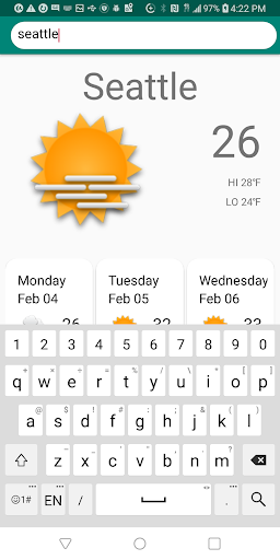 Screenshot for Quick Weather in United States Play Store
