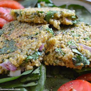 Spinach Quinoa Cakes.