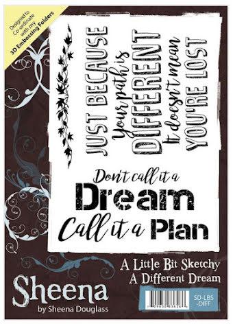 Sheena Douglass A Little Bit Sketchy A6 Stamp - A Different Dream UTGÅENDE