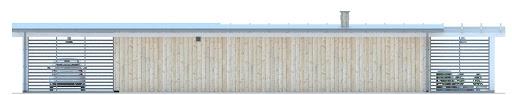 G183 - Budynek rekreacyjny - Elewacja tylna