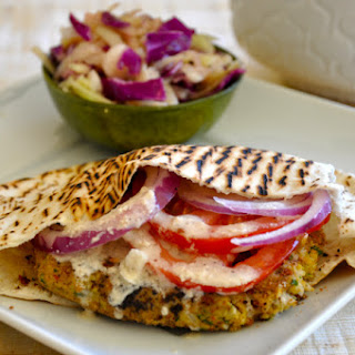 Chickpea Burger with Tahini Sauce