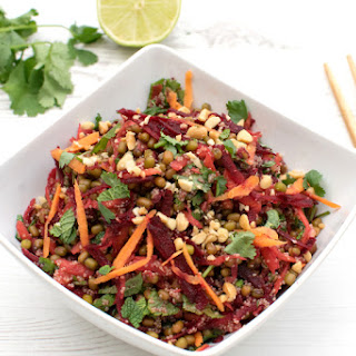 Mung Beans & Amaranth Crunchy Asian Salad [vegan]