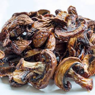Dehydrated Mushroom Jerky.