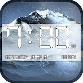 Winter Clock Wallpaper