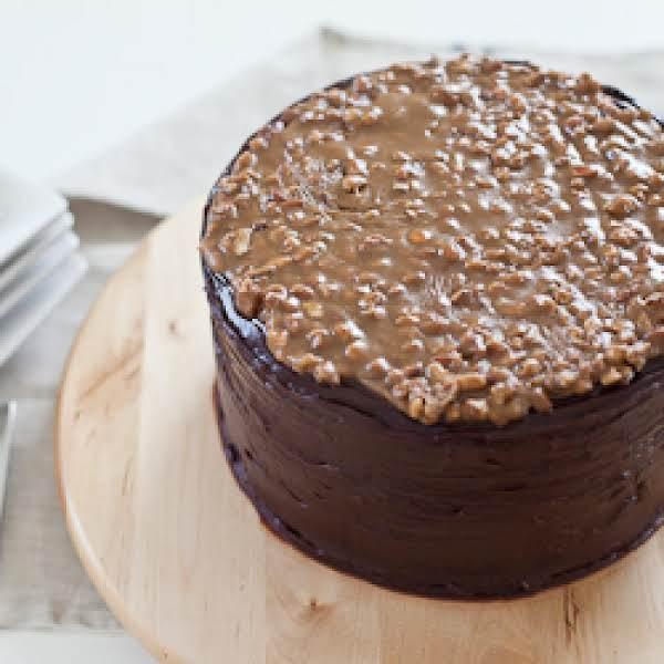 Chocolate Cake W/ Praline Frosting & Bourbon Glaze Recipe