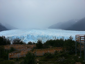 Photo: This Glacier is TALL. Its about half the size of a football field tall.