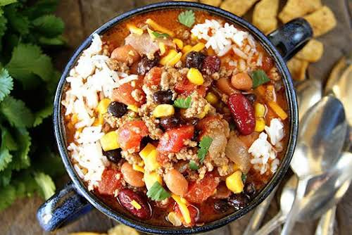 """Taco Soup """"This is one of those recipes that has 487 million..."""