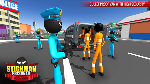 US Police Stickman Criminal Plane Transporter Game apktram screenshots 12