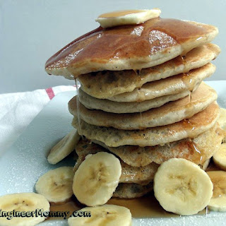 Easy Banana Hazelnut Pancakes