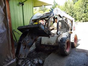 Photo: garage conversion: the big stuff begins