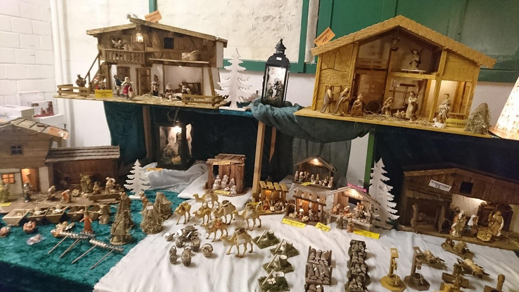 Historischer Weihnachtsmarkt Rittergut Birkhof Krippe