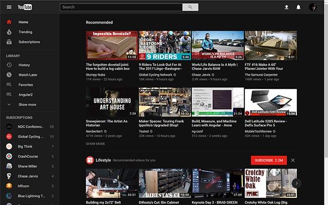 YouTube Secret Dark Mode