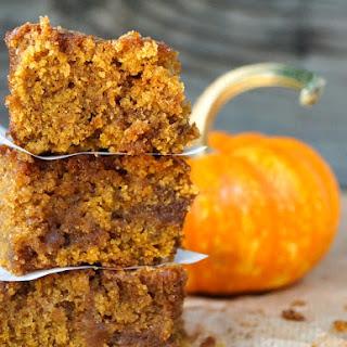 Chai Spiced Pumpkin Caramel Coffee Cake {Gluten-Free Recipe}