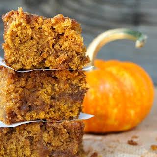 Chai Spiced Pumpkin Caramel Coffee Cake {Gluten-Free Recipe}.