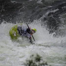 Whitewater II by Olav Aga - Sports & Fitness Watersports ( water, extreme sports, extremsportveko 2016, elvekajakk, voss, strandaelve, kayak, whitewater, river, norway )