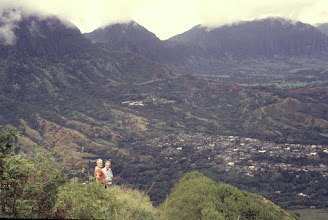Photo: Herman Medeiros, John Paul, at Olomana first peak