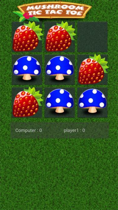 Mushroom Tic Tac Toe- screenshot