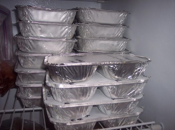 Secure labeled lid and place in freezer.