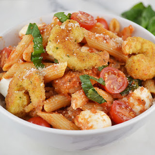 Shrimp Parmesan with Fresh Tomatoes and Basil