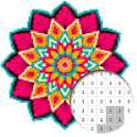 Mandala Color By Number - Pixel Art icon