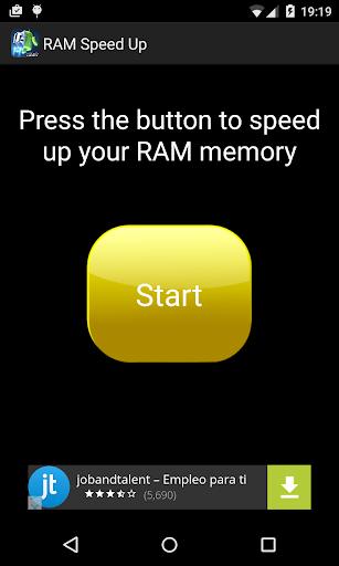 RAM Memory Speed Up 2016