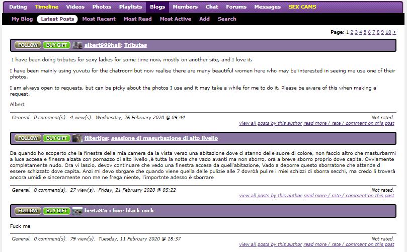 Yuvutu Blog page