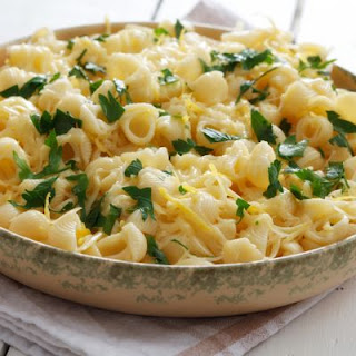 White Cheddar Lemon Garlic Pasta Bake