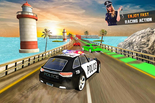 Endless Race Police Chase: 3D Racing Games