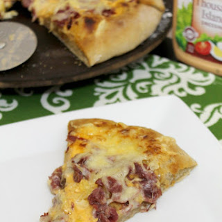 Reuben Pizza with Guinness Crust.