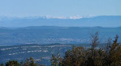 Photo: Zoom sur les montagnes enneigées. VTT 18-10-2009