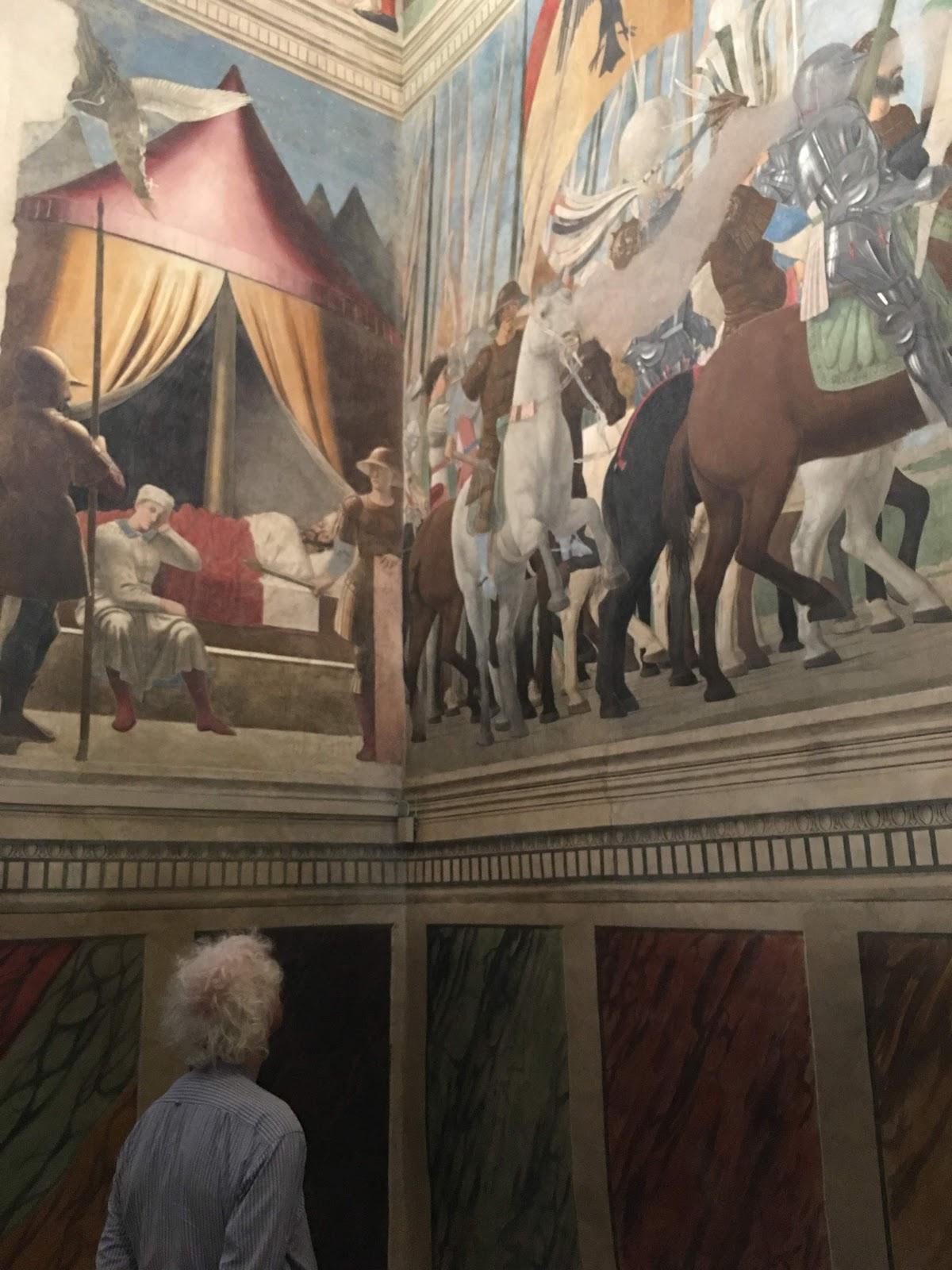 Piero della Francesca, Constantine's Dream and Constantine's Victory over Maxentius. 1455, San Francesco, Arezzo