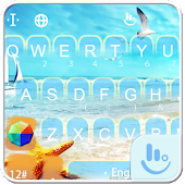 Summer Beach Keyboard Theme