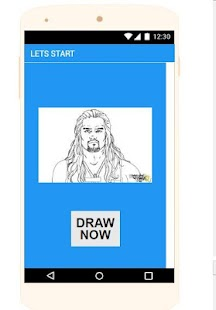 draw roman reigns - náhled