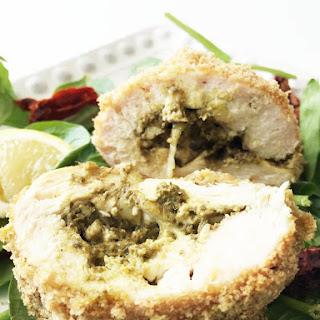 Skinny Pesto & Mozzarella Stuffed Chicken