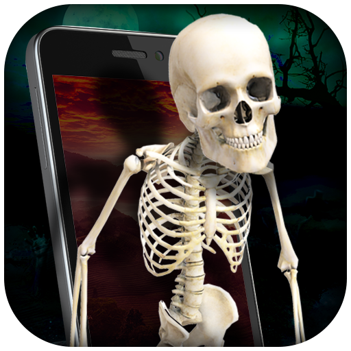 Skeleton in Phone Prank Icon