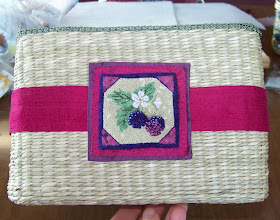 Photo: Completed 13 May 2009. Blackberries by Theresa Layman from the Stitching Friends Retreat 2009. Stitched in colonial and french knots using Weeks Dye Works and The Gentle Art fibers.